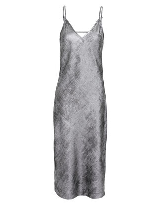 Julep Metallic Slip Dress, SILVER, hi-res