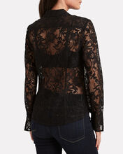 Maya Lace Button Down Shirt, BLACK, hi-res