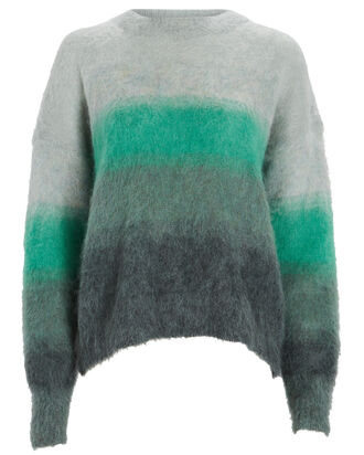 Drussell Striped Mohair-Blend Sweater, GREEN, hi-res