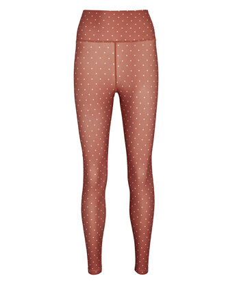 Polka Dot High-Waist Leggings, RED/WHITE, hi-res