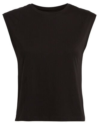 Le High Rise Muscle Sleeveless T-Shirt, BLACK, hi-res