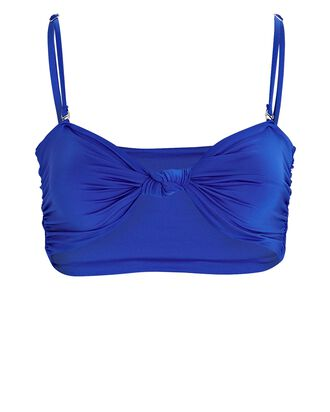 Carrie Knotted Bandeau Bikini Top, BLUE, hi-res