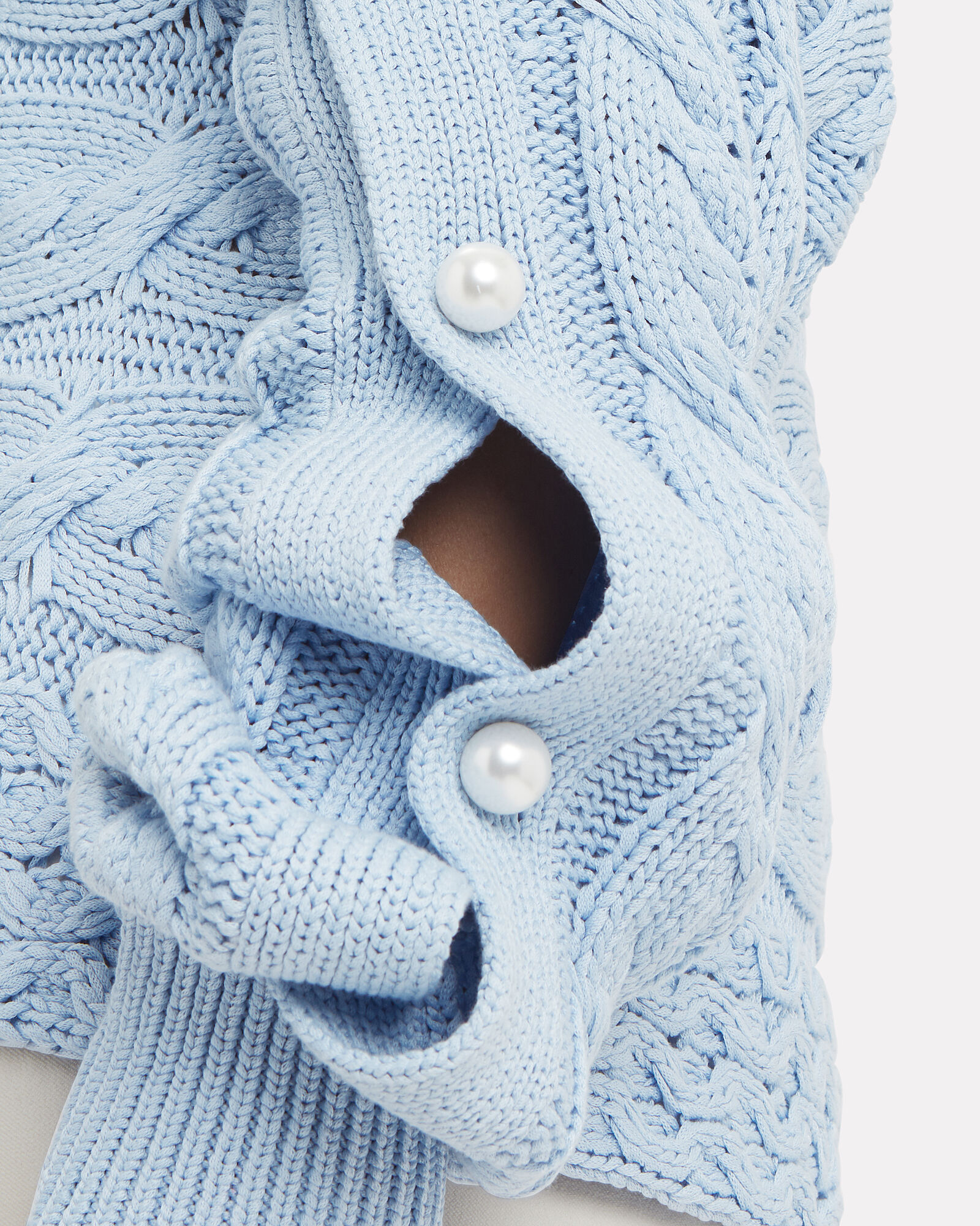 Melody Pearl-Embellished Sweater, BLUE-LT, hi-res