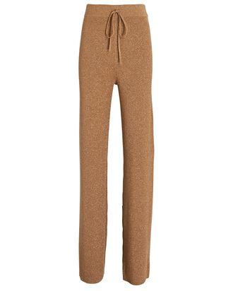 Quentin Knit Wide-Leg Pants, BROWN, hi-res