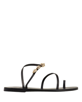 Apli Eleftheria Shell Sandals, BLACK, hi-res