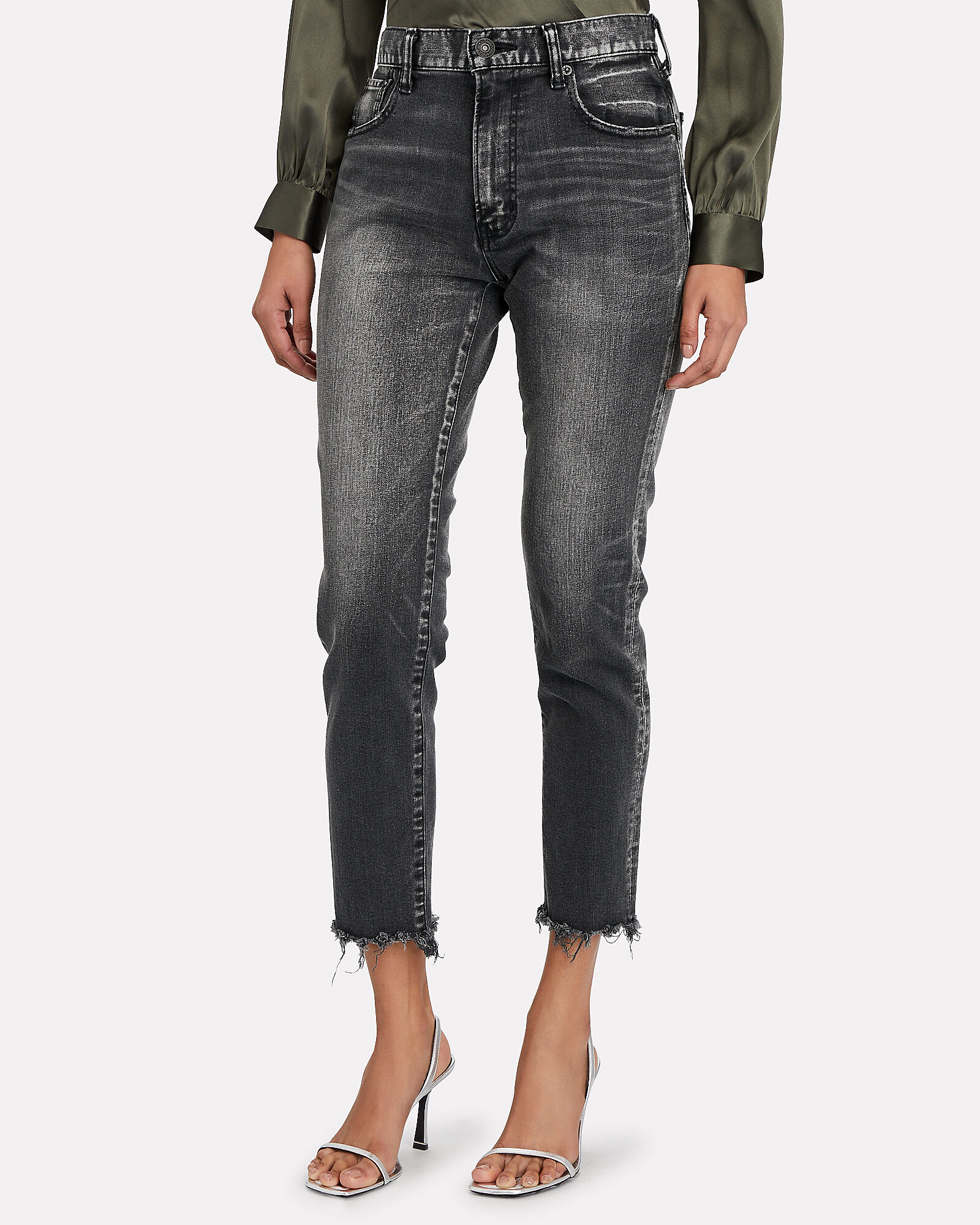 Westcliffe High-Rise Skinny Jeans, FADED BLACK, hi-res
