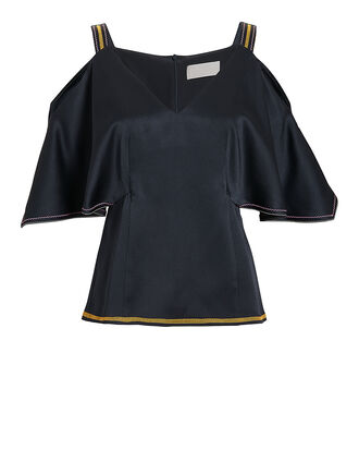 Cold Shoulder Top, NAVY, hi-res