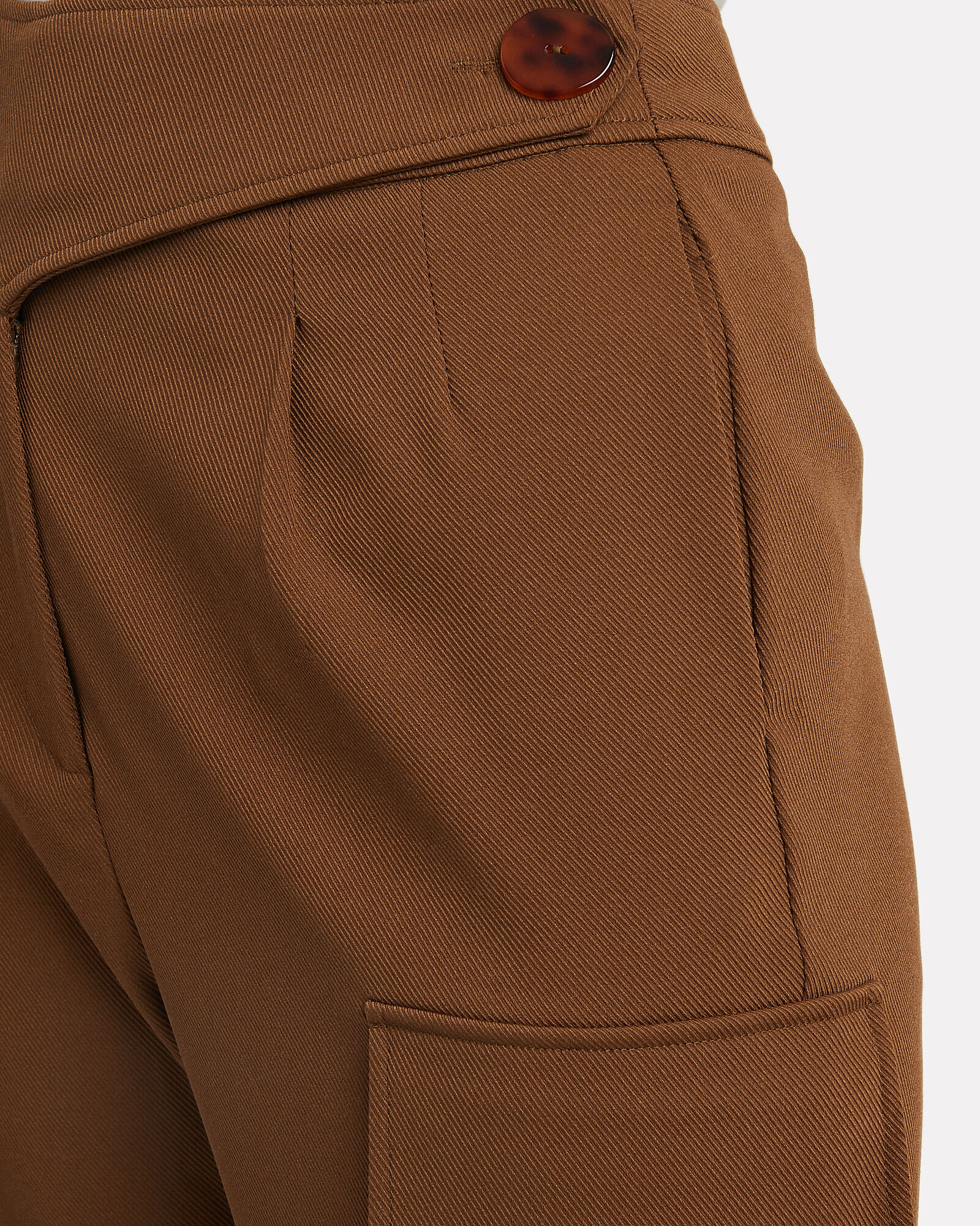 Tapered Twill Cargo Pants, OLIVE, hi-res
