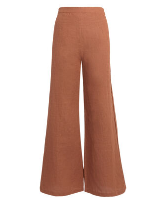 Scelsi Linen Trousers, BURNT ORANGE, hi-res