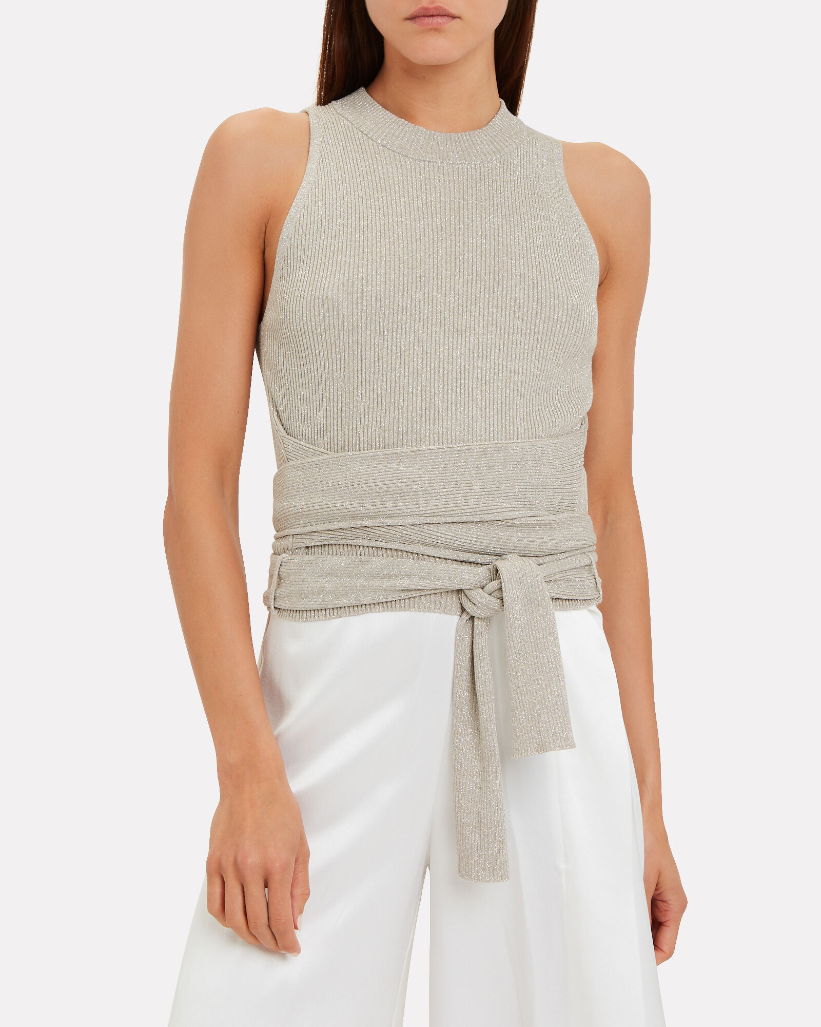 Knit Top With Waist Tie