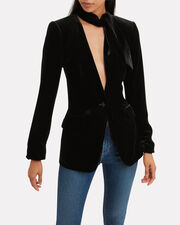 Velvet Noir Jacket, BLACK, hi-res