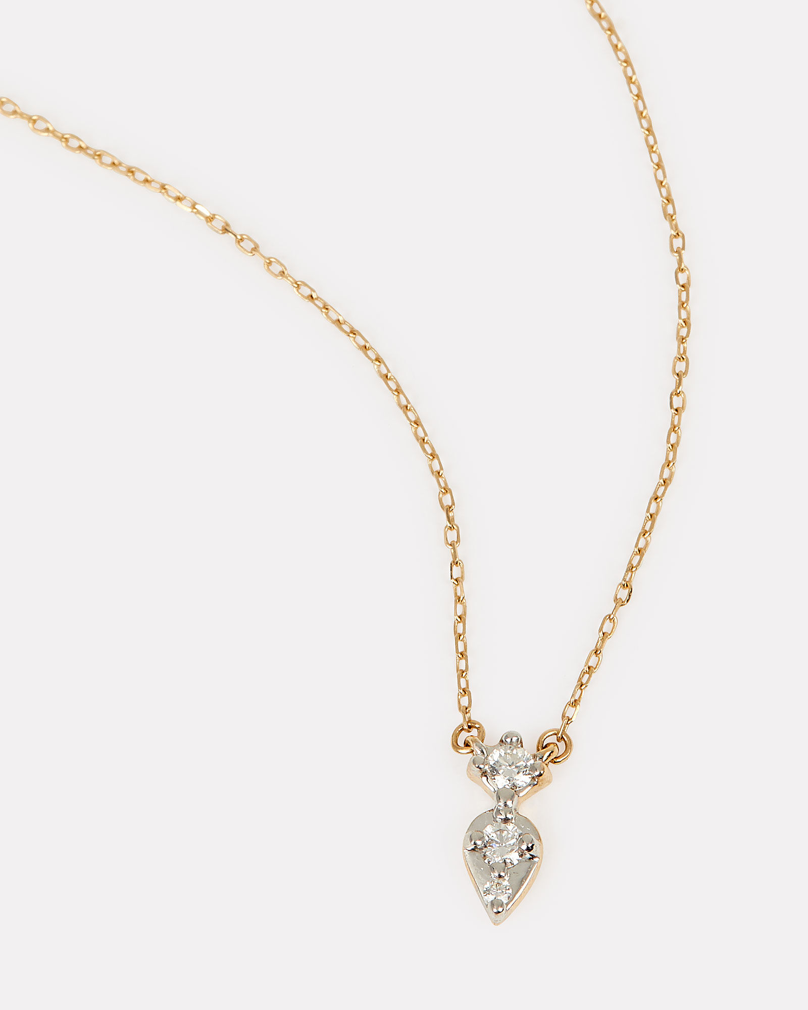 Jumbo Two Marquis Necklace, GOLD, hi-res