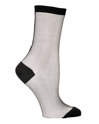 Back Seam Tulle Sheer Socks, WHITE, hi-res