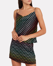 Clover Silk Camisole, BLACK/RAINBOW DOT, hi-res