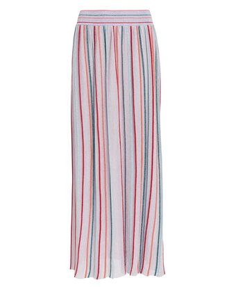 Lurex Striped Midi Skirt, LILAC/STRIPE, hi-res