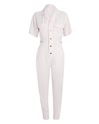 Petra Short Sleeve Jumpsuit, PINK, hi-res