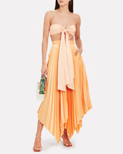 Eden Pleated Maxi Skirt, ORANGE, hi-res