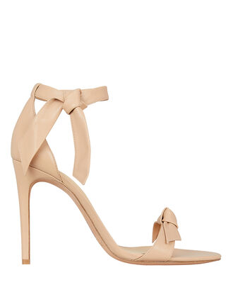 Clarita 100 Leather Sandals, NUDE, hi-res