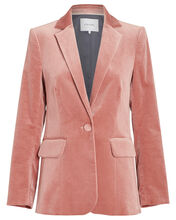 Classic Velvet Single Breasted Blazer, PINK, hi-res