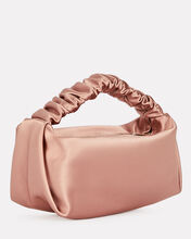 Scrunchie Ruched Satin Bag, BLUSH, hi-res