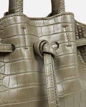 Mini Lynne Croc-Embossed Shoulder Bag, OLIVE/ARMY, hi-res