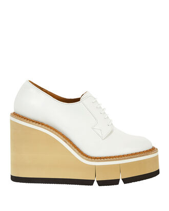 Badiane Loafer Wedges, WHITE, hi-res