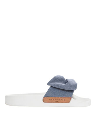 Wendyd Denim Slide Sandals, DENIM, hi-res