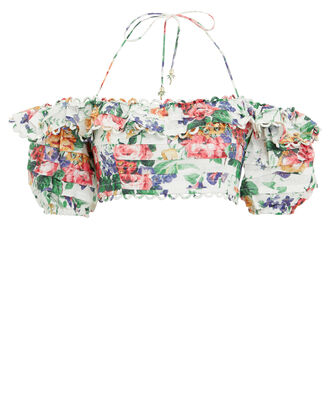 Allia Linen Crop Top, WHITE/FLORAL, hi-res