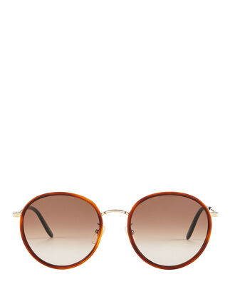 Havana Rounded Sunglasses, BROWN, hi-res