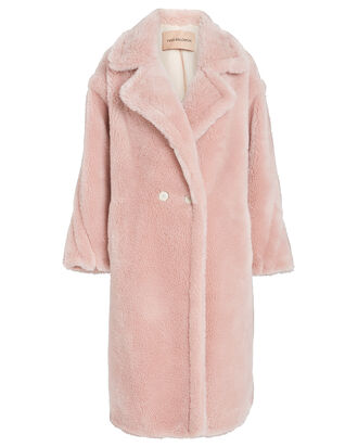 Wool Teddy Coat, PINK, hi-res
