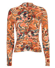 Ansel Ruched Jersey Top, MULTI, hi-res