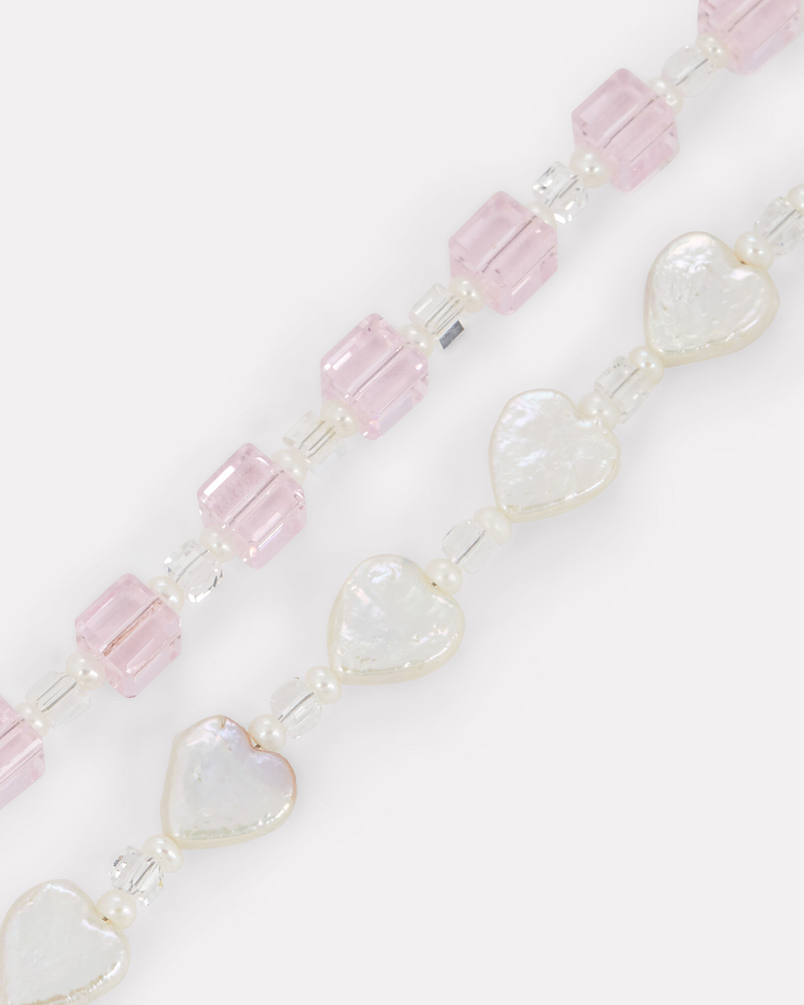 For Like Ever Beaded Necklace, PINK, hi-res