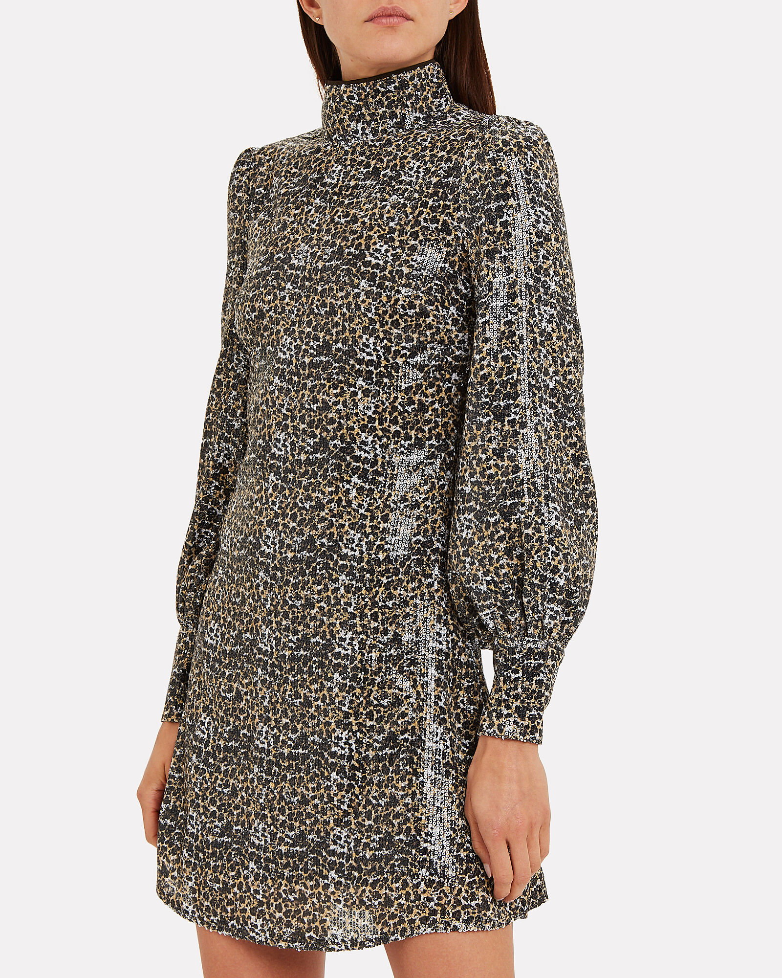 Melissa Leopard Sequin Dress, BROWN/LEOPARD, hi-res