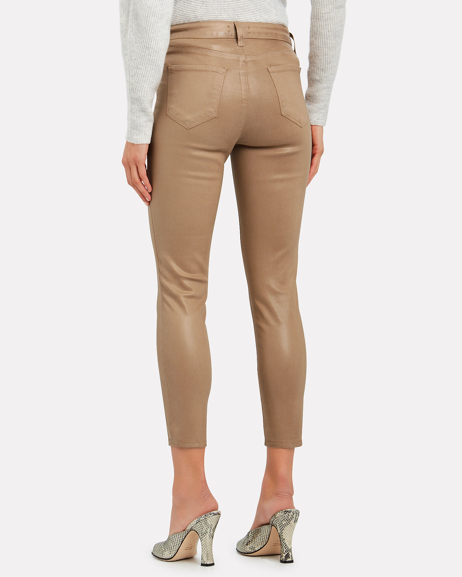 Margot Coated High-Rise Skinny Jeans, CAPPUCCINO, hi-res