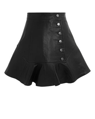 Ronan Leather Mini Skirt, BLACK, hi-res
