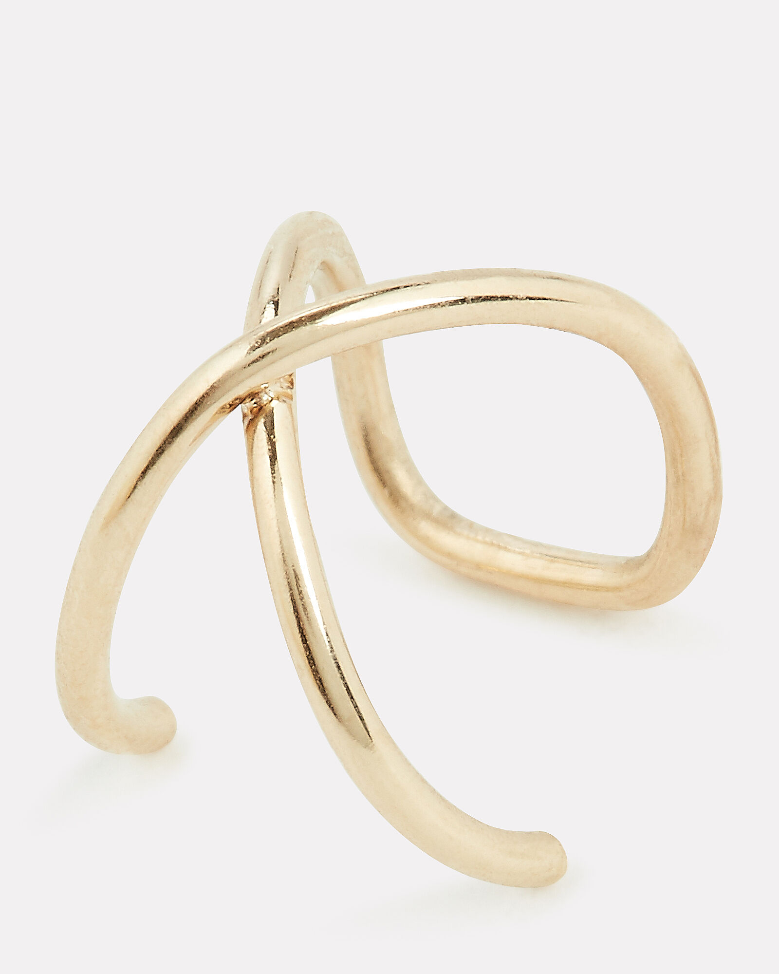 Crossover Gold Ear Cuff, GOLD, hi-res