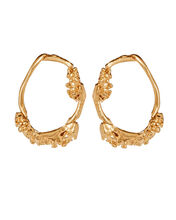 The Unreal City Hoop Earrings, GOLD, hi-res