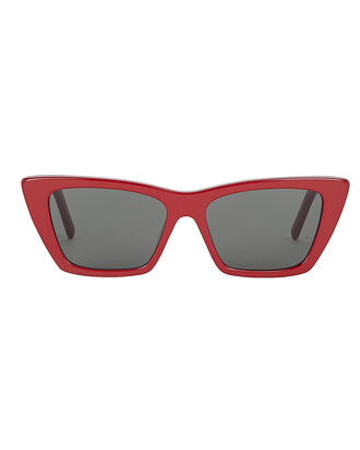 Square Cat Eye Sunglasses, BURGUNDY, hi-res