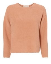 Oversized Cropped Sweater, PINK, hi-res