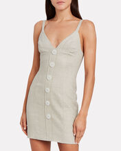 Savannah Linen Mini Dress, STONE, hi-res