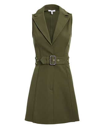 Army Belted Trench Dress, ARMY GREEN, hi-res