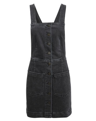 Rose Overall Dress, BLACK DENIM, hi-res