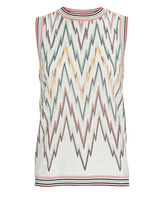 Chevron Knit Sleeveless Top, MULTI, hi-res