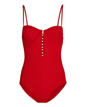 Andrea One-Piece Swimsuit, RED, hi-res