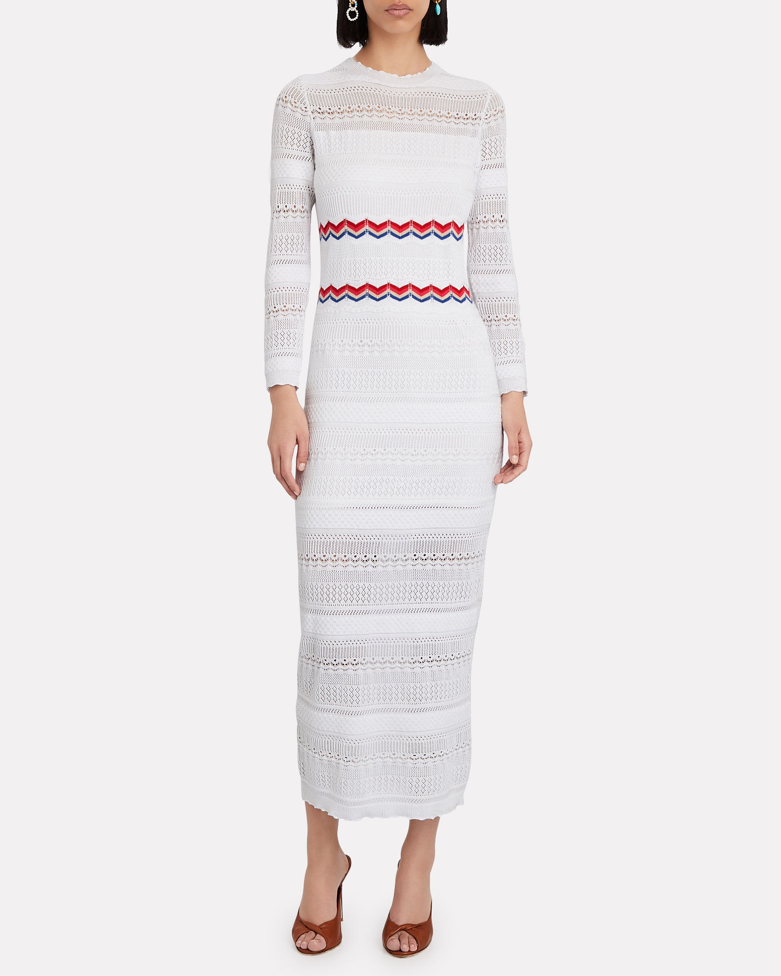 Selmah Knit Maxi Dress, WHITE, hi-res
