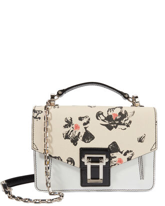 Hava Chain Floral Leather Small Shoulder Bag, PRI-FLORAL, hi-res