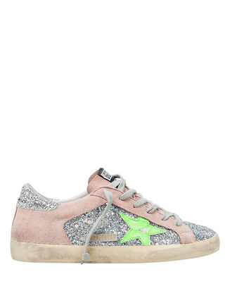 Superstar Neon Star Low Top Sneakers, BLUSH/GLITTER, hi-res