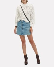 Open Weave Knit Top, IVORY, hi-res