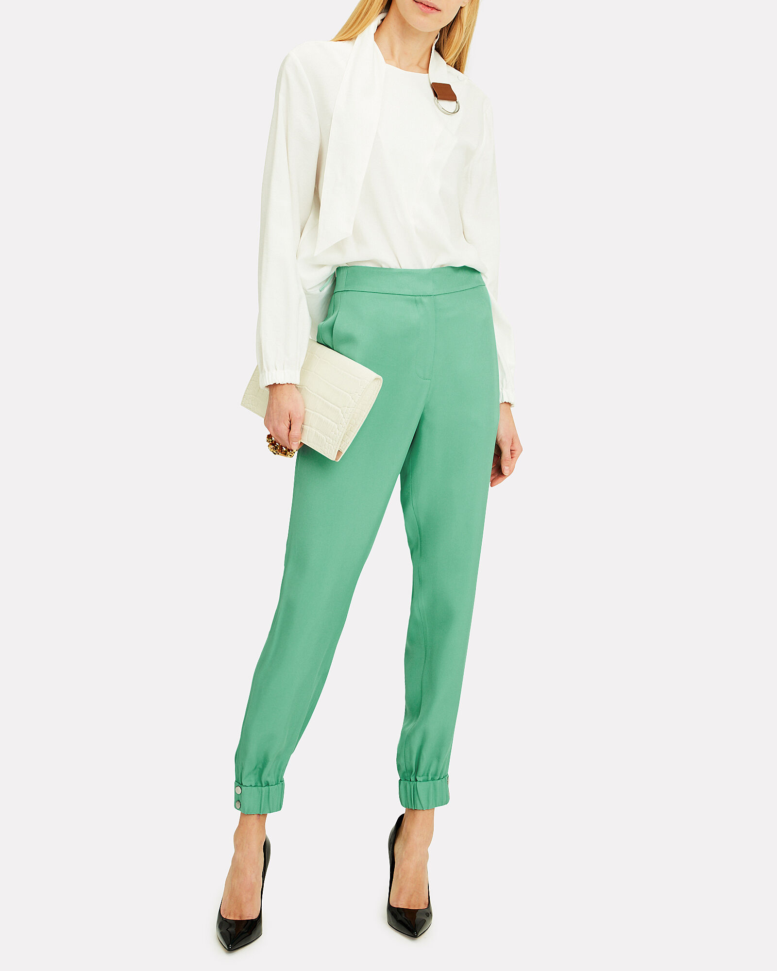 Pull-On Suiting Joggers, GREEN, hi-res