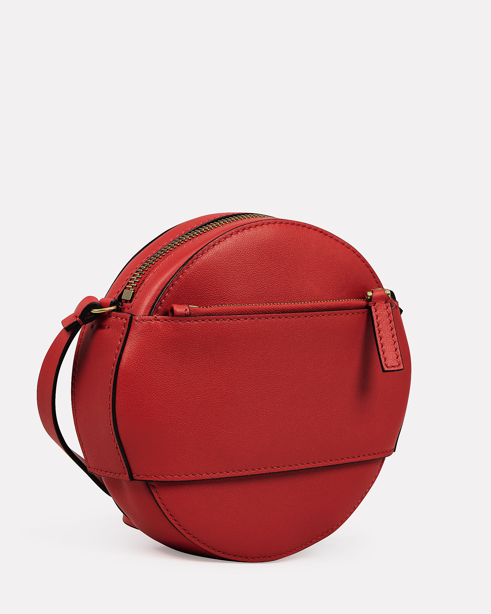 Logo Circle Crossbody Bag, RED, hi-res